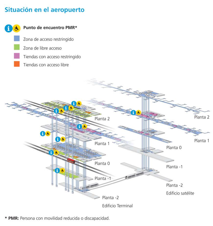 Mapa Aeropuerto Barajas T4.Asistencia Pmr Aeropuerto De Madrid Blue Cat Parking